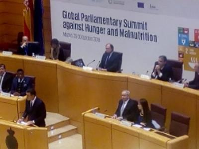 El presidente del Gobierno de España inaugura la CUmbre Parlamentaria