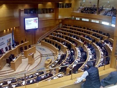 Imagen del hemicilo del Senado de España, en el que se desarrolló la CUmbre Parlamentaria Mundial contra el Hambre y la Malnutrición