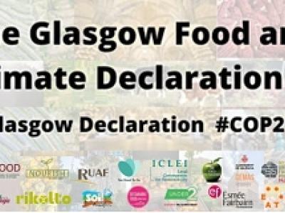 banner de la declaración de Glasgow