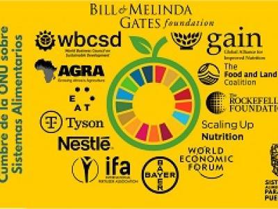 infografía sobre empresas y cumbre de sistemas alimentarios